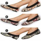 Zapatos Bailarinas Plegables